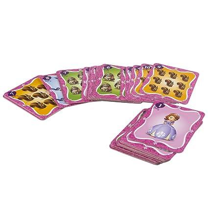 Lisciani - Princesa Sofía, juego de cartas gigantes, color violeta (ColorBaby 42098)