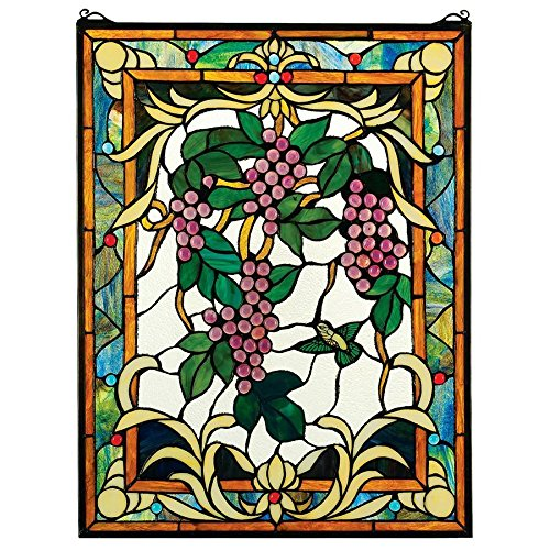 Madison Collection Grape Vineyard Stained Glass Window