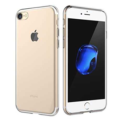 Yunbaozi Funda iPhone 7 Carcasa iPhone 8 Transparente TPU *[Ultra Suave]* Caso Flexible Delgado Funda Suave de Protectora Anti-rasguños Anti Choque ...