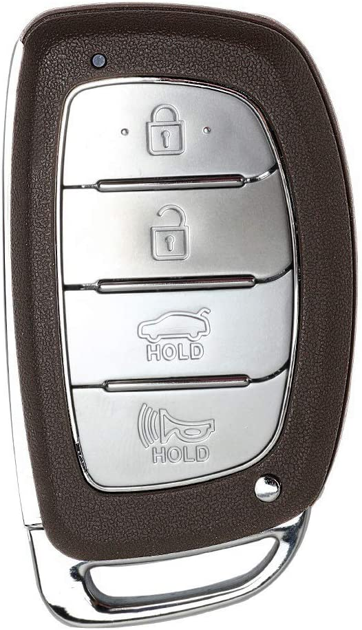 4 Buttons Replacement Car Key Fob Case Fit Hyundai Sonata Tucson Elantra Keyless Entry Key Fob Shell 4 Buttons