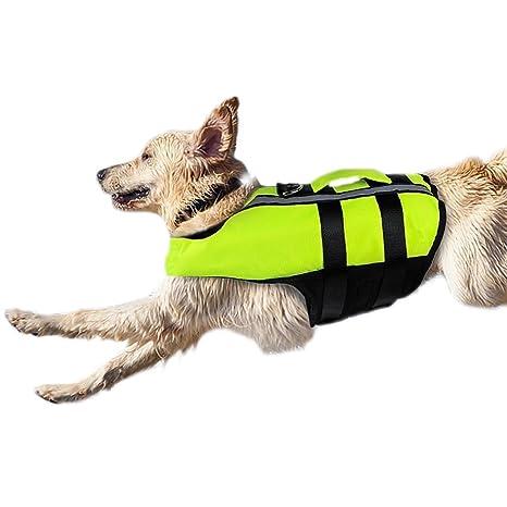 Homesupplier Chaleco salvavidas para perros pequeños y medianos para natación, flotante, seguro y reflectante