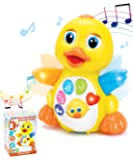 JOYIN Dancing Walking Yellow Duck Baby Toy with Music and LED Light Up for Infants, Toddler Interactive Learning…