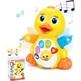 JOYIN Baby Musical Toy Dancing Walking Yellow Duck Baby Toy with Music and LED Lights, Infant Light Up Toys, Activity Center