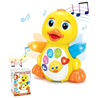 JOYIN Dancing Walking Yellow Duck Baby Toy with Music and LED Light Up for Infants...