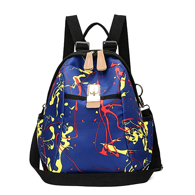 Haxibkena Bolsa de viaje impermeable de señora Nylon Mochilas escolares Mochila antirrobo Bolsas de Hombro Mujeres