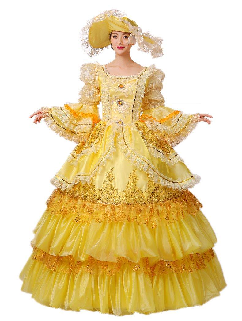 Zukzi Women's Flare Sleeve Fairy Godmother Costume with Free Petticoat, US 10, Blue by Zukzi
