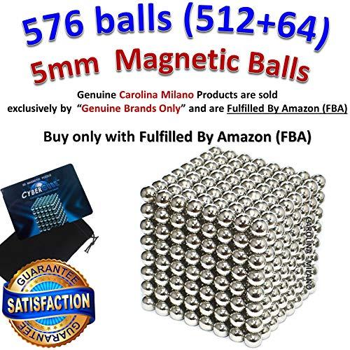 5mm 576 pieces 512 pcs + 64 pcs Magnetic Balls Building Blocks Sculpture Magnets Educational game Magnet Toy Intelligence Development Stress Relief Imagination gift (set of 216pcs x2 + 144 balls)