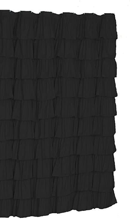 Image Unavailable Not Available For Color Flamenco Ruffle Shower Curtain Black