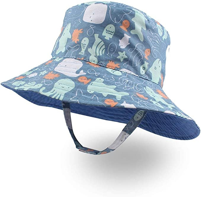4sold Kids Infants Youths Hats Sun Protection Boy Bucket Hat Girl Fisher Outdoor Sun Beach Cap