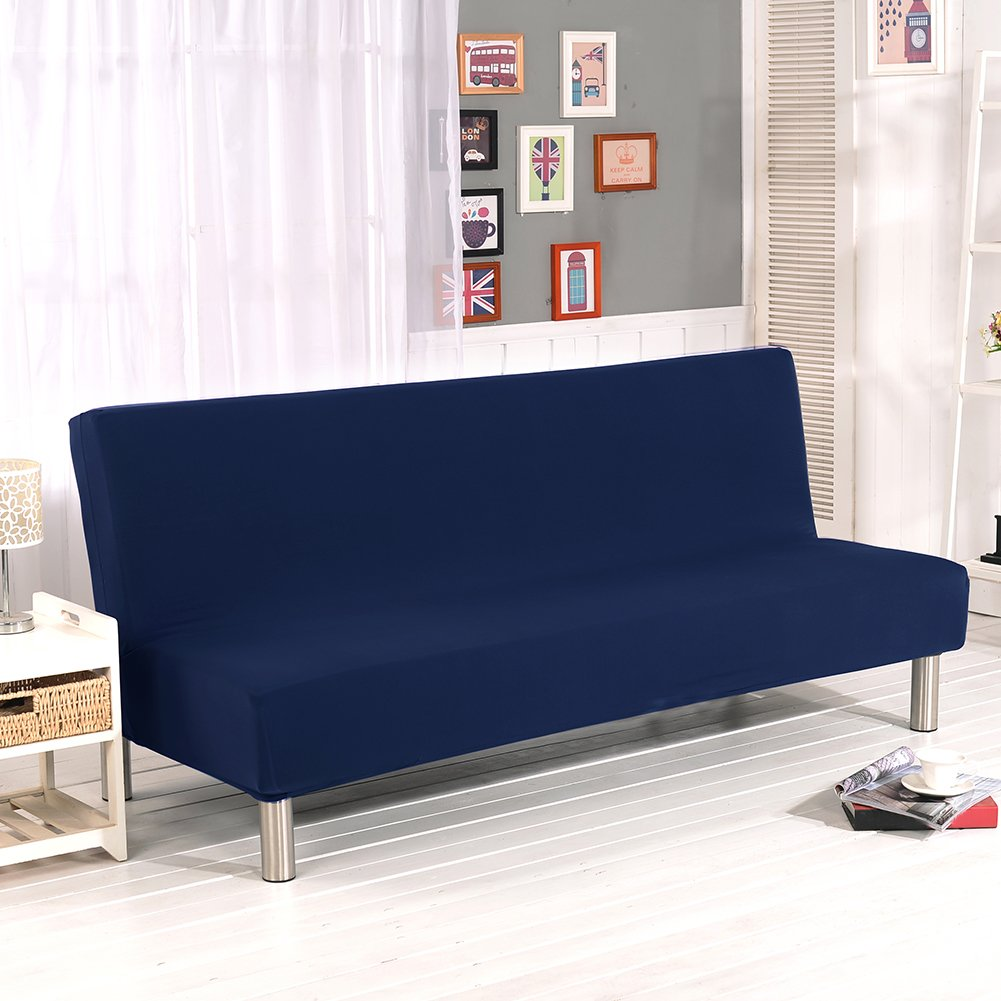 LianLe Sofa Covers 1-Piece Polyester Spandex Fabric Stretch Slipcovers Fit Folding Armless Sofa Bed