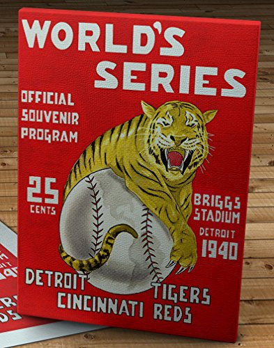 1940 Vintage Cincinnati Reds - Detroit Tigers World Series Program - Canvas Gallery Wrap - 12 x 16