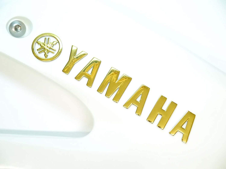 175x30mm Oro Yamaha Moto Emblema Insignia Moto Tanque de Combustible Gasolina Pegatina