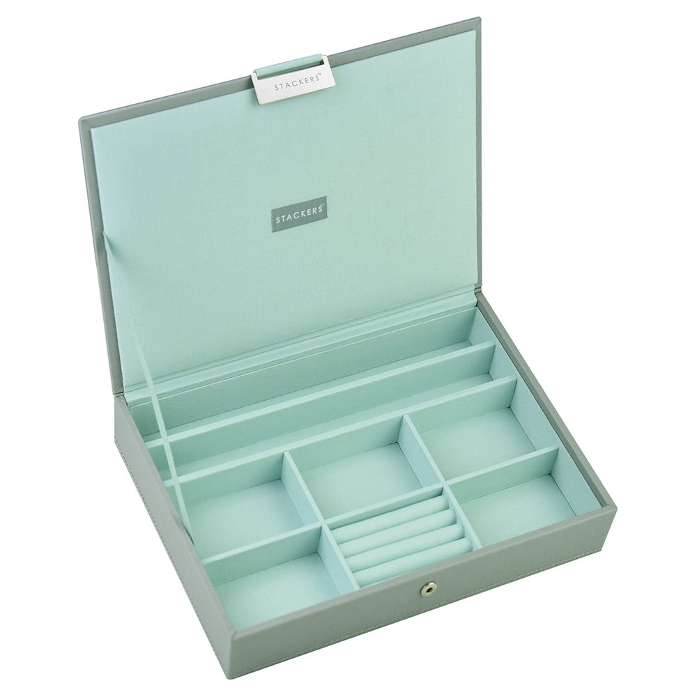 Stackers Dove Gray with Mint Classic Jewelry Box by Stackers (Image #1)