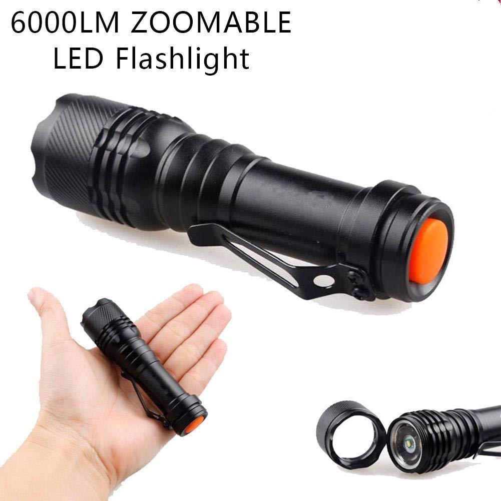 gouxia74534 6000 LM Q5 LED Mini Linterna Linterna Zoom