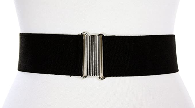 1940s Accessories: Belts, Gloves, Head Scarf Black Elastic Cinch Belt 2 Wide - Retro 50s Style by Hey Viv ! $11.99 AT vintagedancer.com