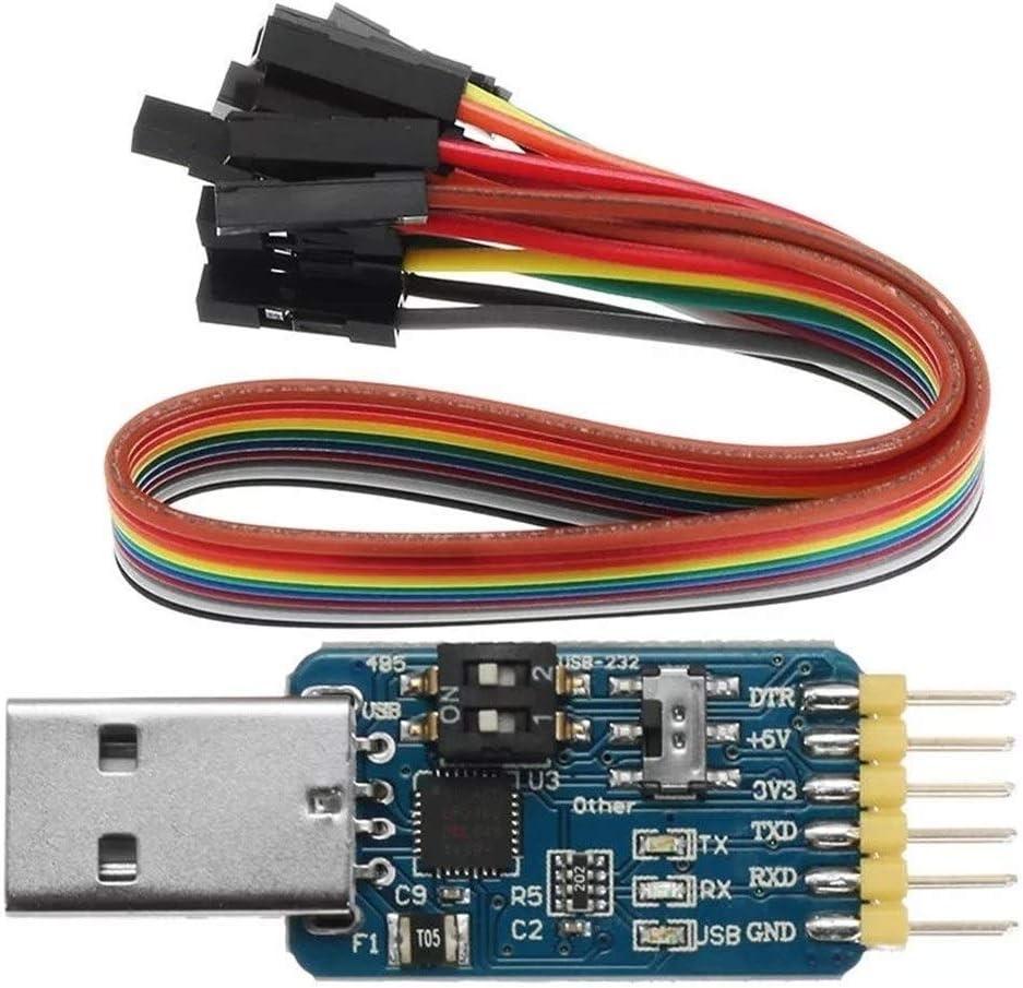 モジュール TTL 232 485コンバータ5V / 3.3V互換性のシックス・マルチファンクションシリアルモジュールの科学実験モジュールに1つのCP2102 USBではクリニーク6 プリンタパーツ アクセサリ