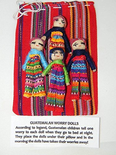 - Large Worry Doll Pouch for Boys Contains 4 3