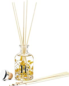 FF. Real Flower Reed Diffuser - Reed Diffuser Set with 200ml/6.8oz Diffuser Refill and 8 PCS Reed Diffuser Sticks - Oil Diffuser - Aromatherapy Gift - Aromatherapy Oil - Home Decor & Office