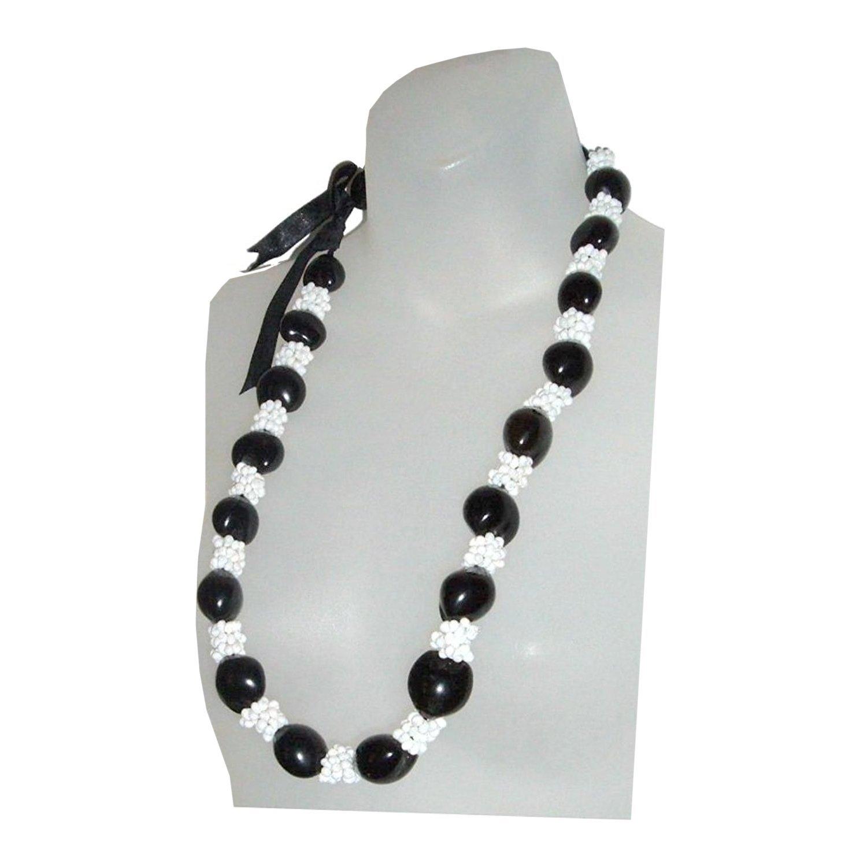 Amazon Hawaiian Lei Necklace Of Black Kukui Nuts Hawaiian