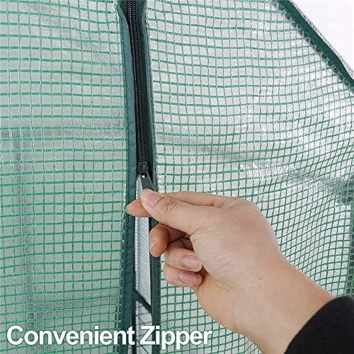 庭の温室 2段6段ウォークイン温室、PE布カバースタンド植物温室、屋内屋外植物園芸、花、植物用