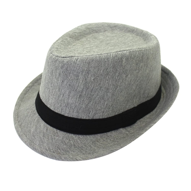 Zhhlinyuan HAT メンズ B076X4YMZB  グレー One Size