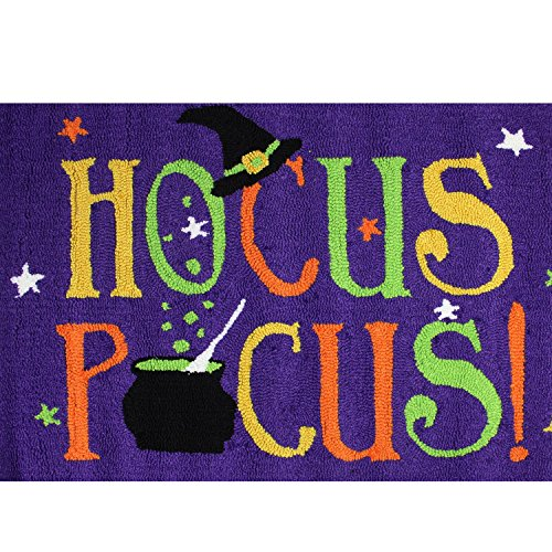C&F Home Hooked Hocus Pocus Halloween Rug, Purple -