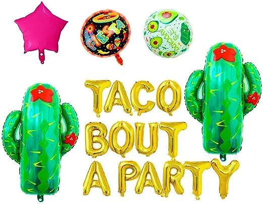 LaVenty 9 PCS Rose Gold Taco Bout 30 Balloons Nacho Average Thirty Balloon Fiesta 30th Birthday Decoration Taco Birthday Party Decoration Taco Party Decor