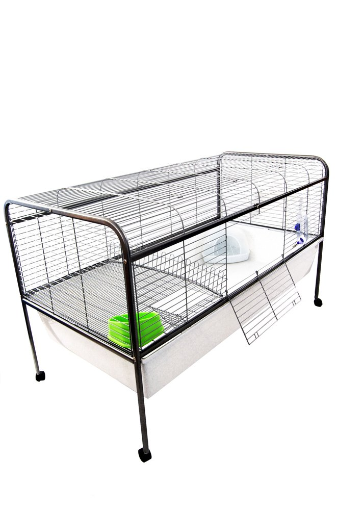 Large Indoor Rabbit Cage On Stand With Wheels