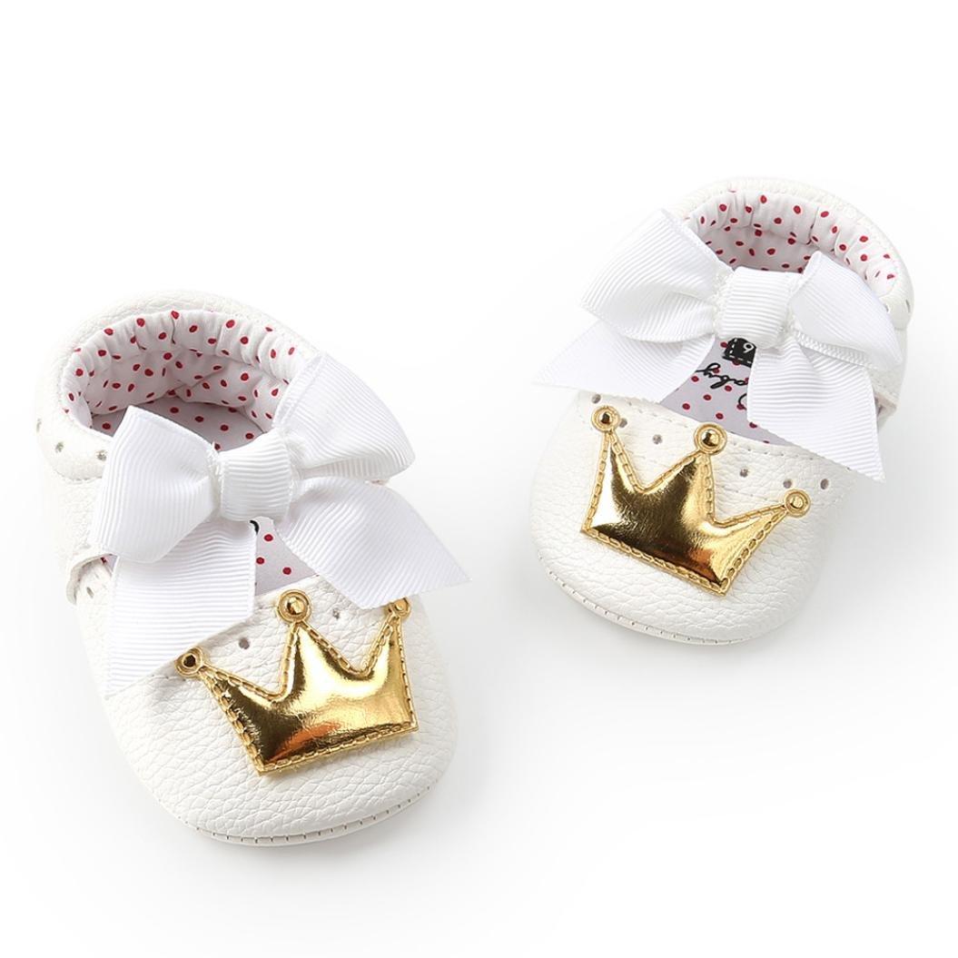 Infant Baby Girl Crown Princess Shoes Soft Sole Anti-Slip Sneakers Prewalker
