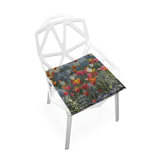 Cojín de silla de oficina Tulipanes Colorido Rojo Naranja ...