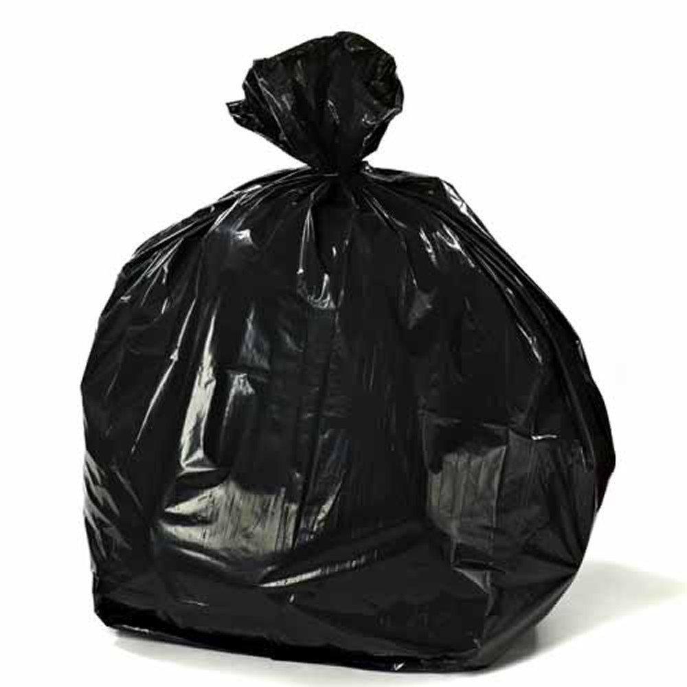 Plasticplace 12-16 Gallon Trash Bags on Rolls 0.8 Mil, 24''W x 32''H, Black, 500/Case by Plasticplace