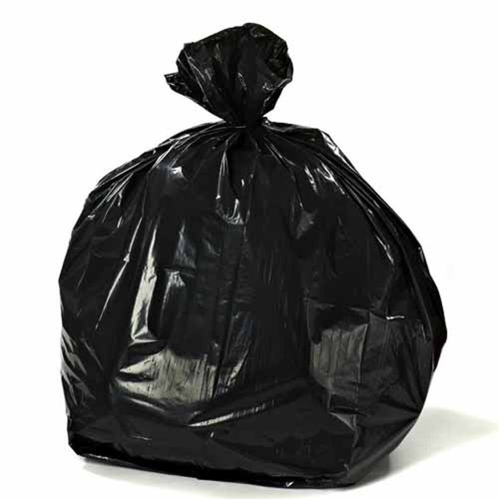 Plasticplace 12 - 16 Gallon Trash Bags on Rolls 0.8 Mil, 24''W x 32''H, Black, 500/Case