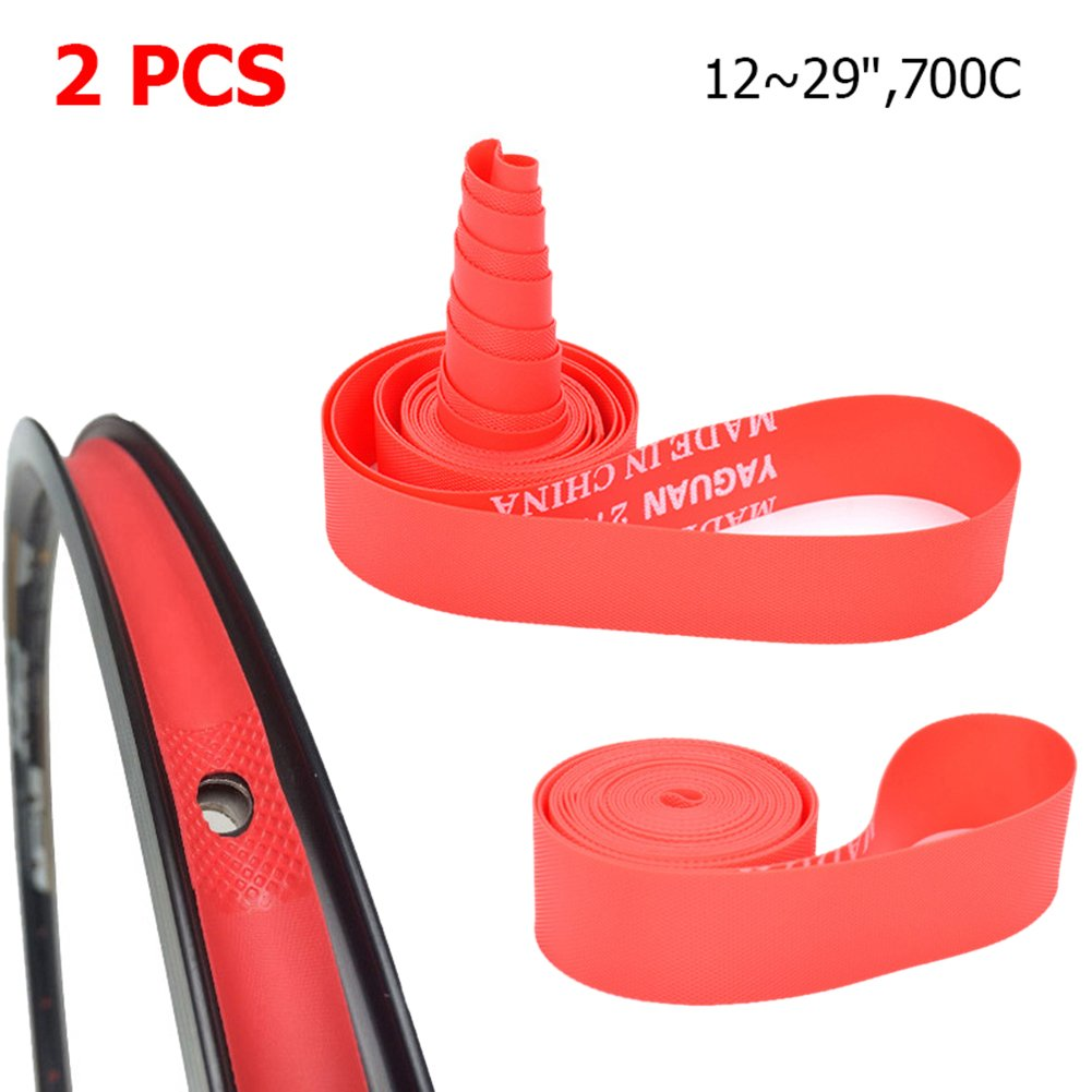 2 Pack PVC Tyre Cushion Anti-Blow out Puncture For Mountain Bike Bicycle Wheel Rim Strip Tape-12