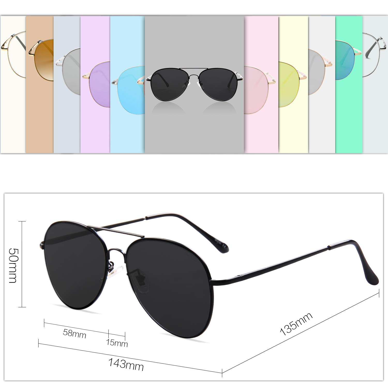 f606b2359f6 SOJOS Classic Aviator Mirrored Flat Lens Sunglasses Metal Frame with ...