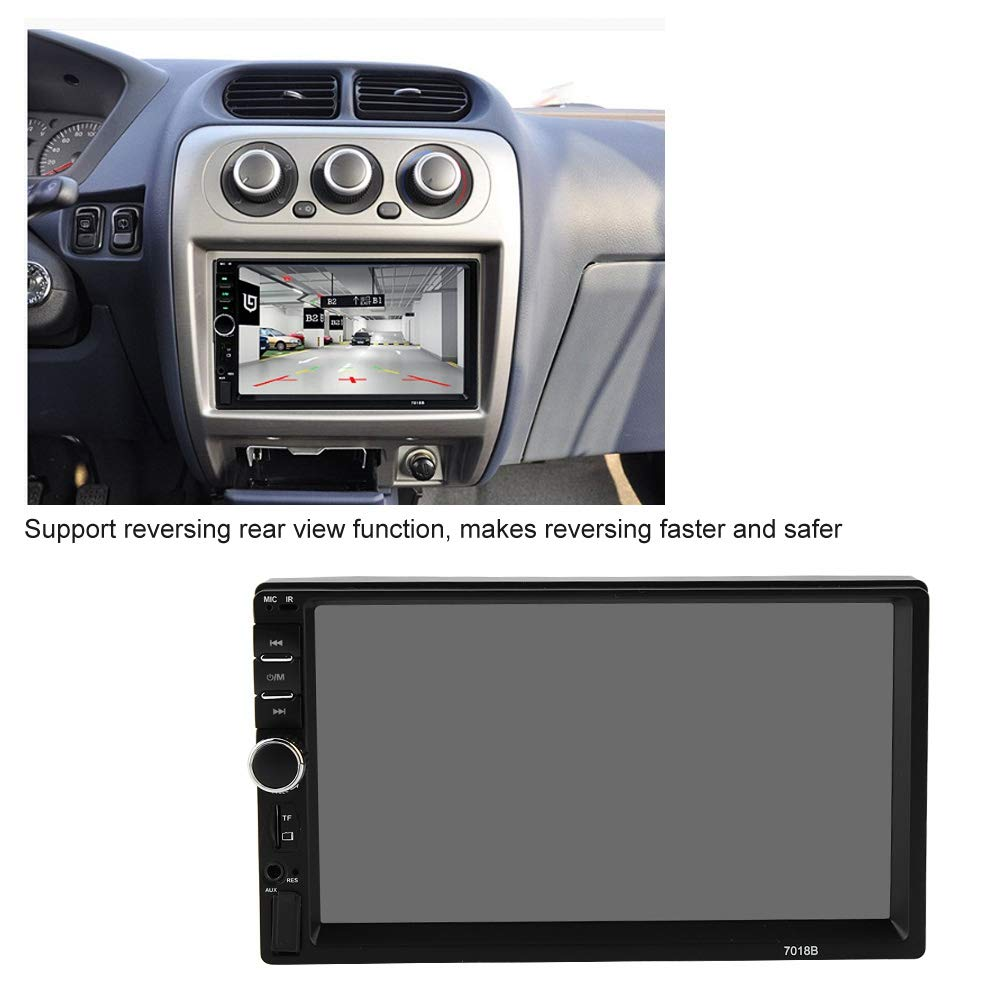 Akozon MP4 MP5 Player 7018B 7'' HD Car MP4 MP5 Player AUX Stereo BT Handsfree LCD FM Radio Remote Control by Akozon (Image #5)