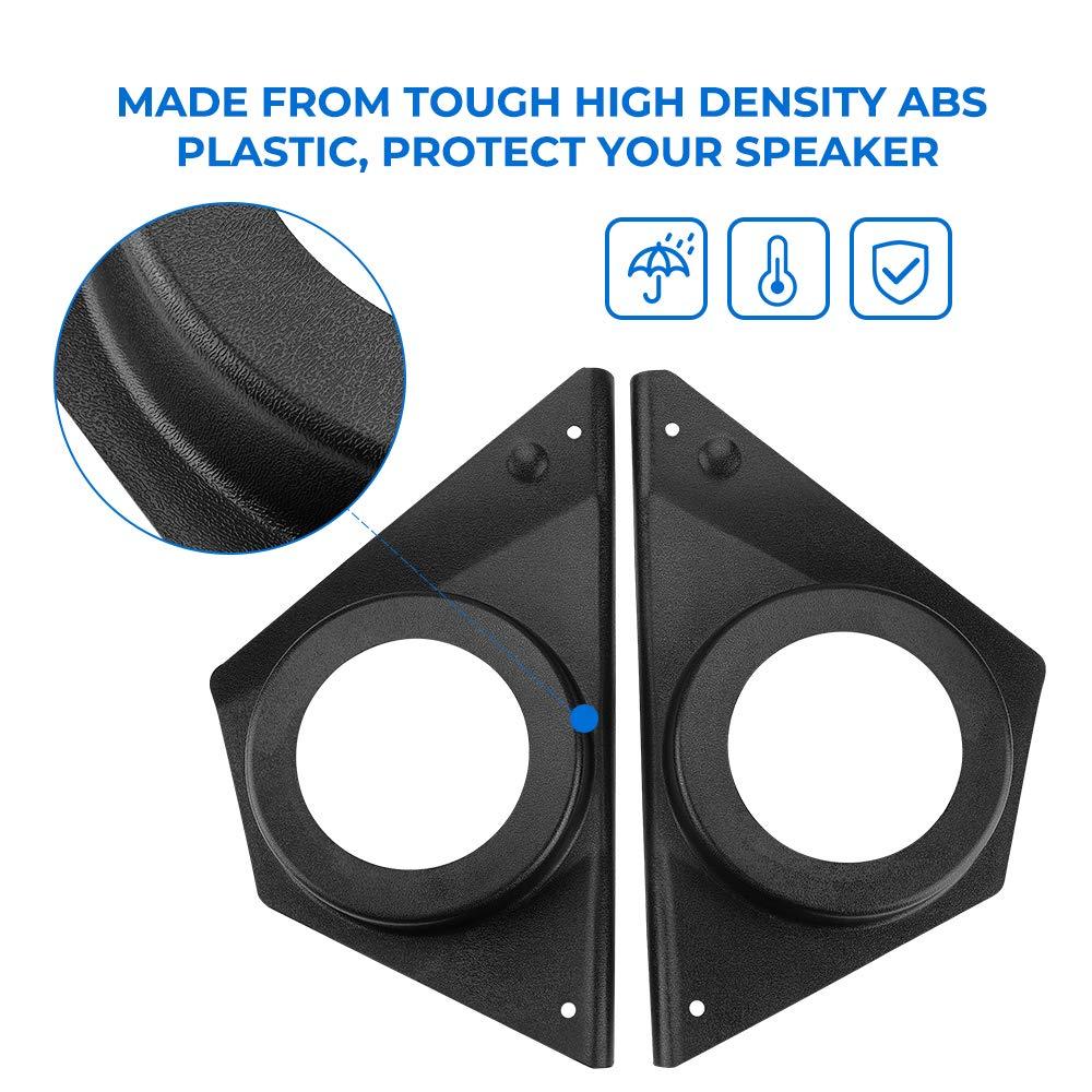 KIWI MASTER Front Door Speaker Panels Compatible for 2015-2020 Polaris RZR XP 1000 900 S ACE