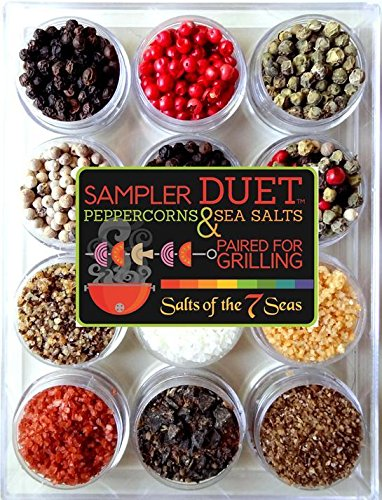 (The Sampler Duet Sea Salts and Peppercorns Paired for Grilling)