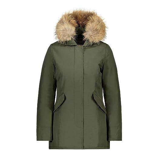 MATOGLA by H4F Damen Arctic Winter Parka Mantel Jacke mit echt Fell Kapuze  (Farbe  Grün  Größe  XL)  Matogla  Amazon.de  Bekleidung cbde184111