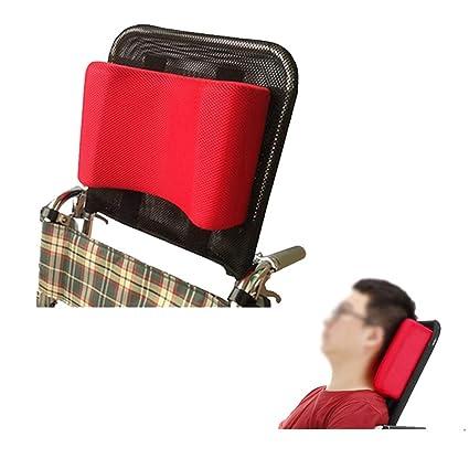 """Soporte para cuello Reposacabezas silla de ruedas Acolchado de la cabeza Cojín portátil y ajustable para 16-20"""" Adultos viaje sillas de ruedas de ..."""