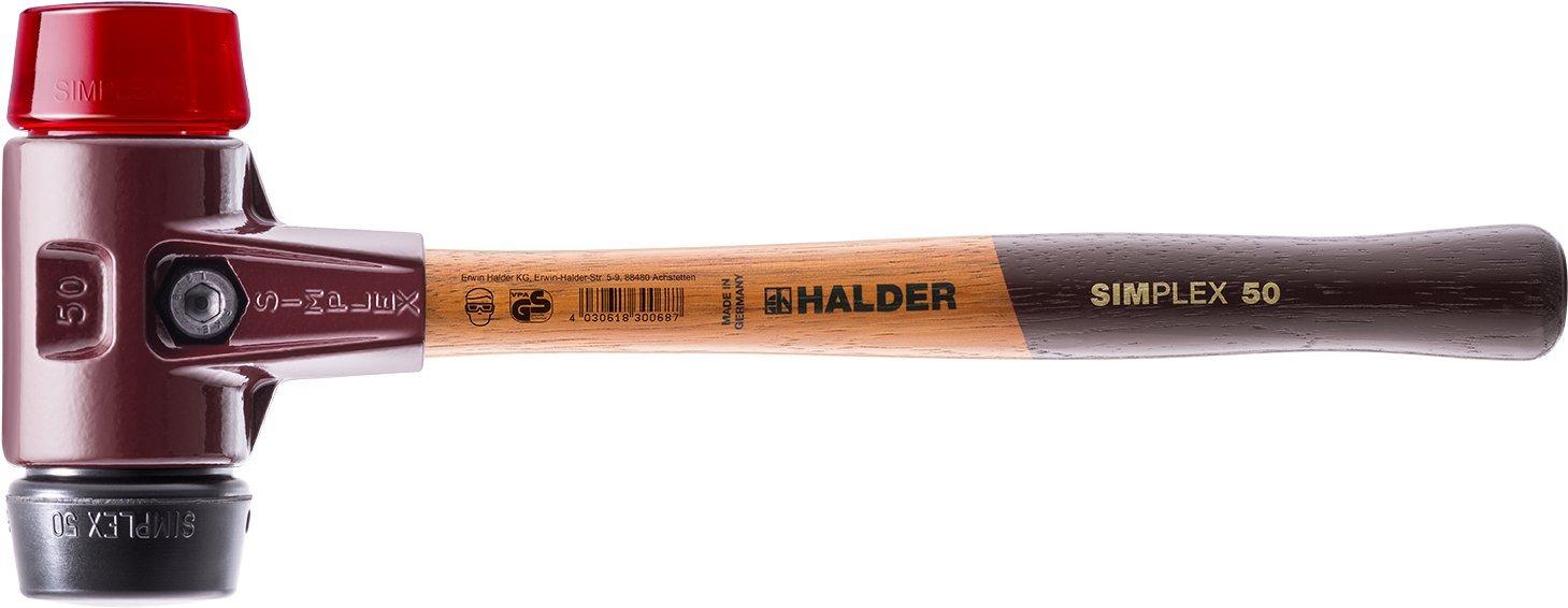 ハルダー (HALDER) シンプレックス プラスチック ハンマー ゴム ( 黒 ) プラスティック ( 赤 ) 径60 3026.060