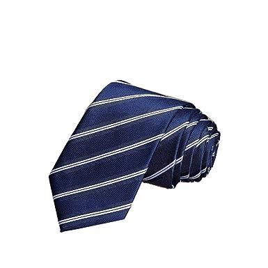 PyBle - Corbata de seda para boda, diseño de rayas - - 8 cm ...