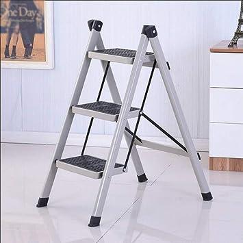 AFDK Escalera de hierro de 3 escalones Escalera plegable para el hogar Escalera de aislamiento Escaleras multifunción Escalera plegable Escalera portátil de un solo lado,gris: Amazon.es: Bricolaje y herramientas
