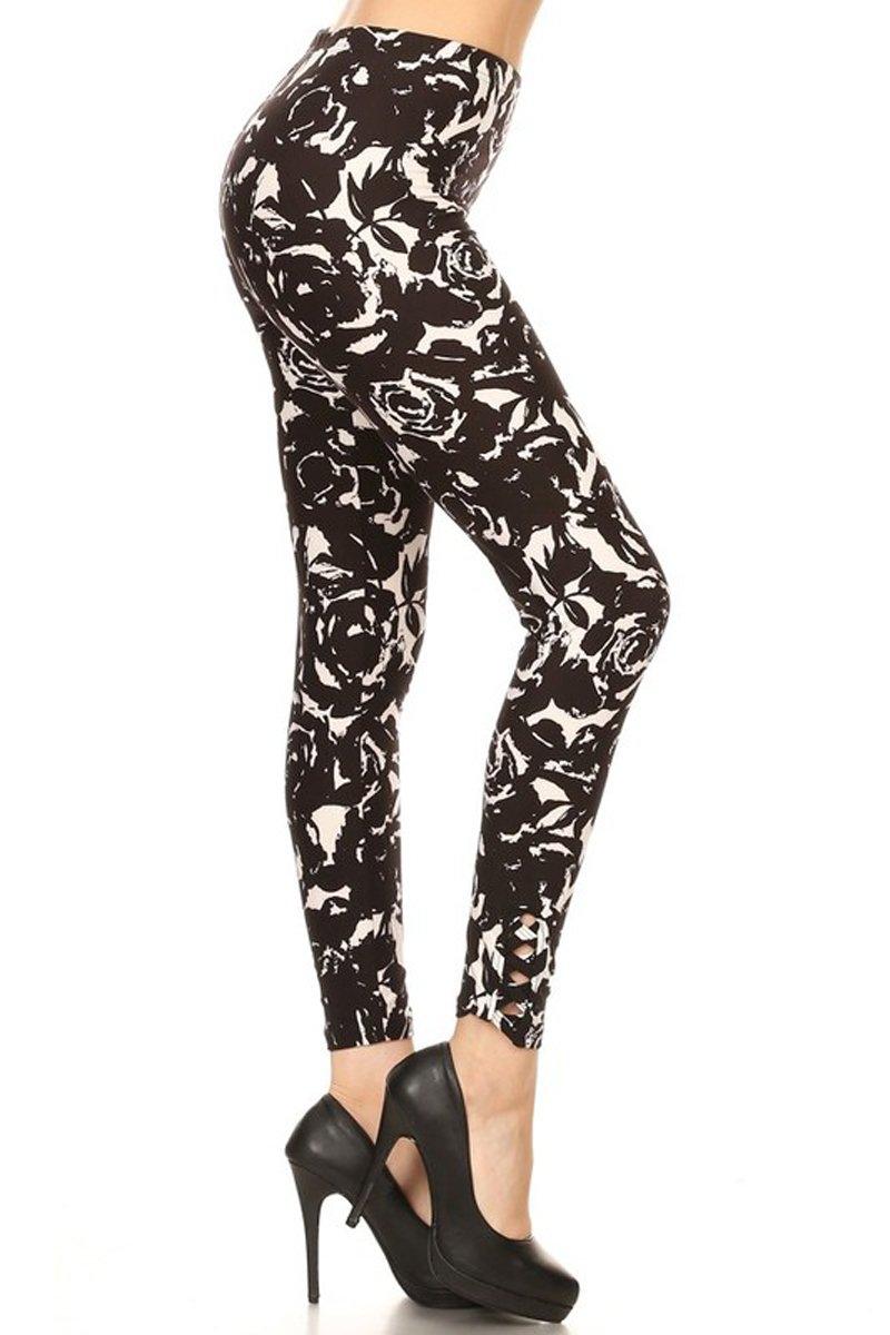 Leggings Depot Lattice Ankle Style Women's Best Selling Popular Print Leggings 61XYocsRicL
