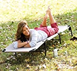 Alria Outdoor Convertible Cot Cum Bed Adjustable Chair Foldable Reclining Beach Sun Lounge Chair With Pillow ( Headrest), Blue