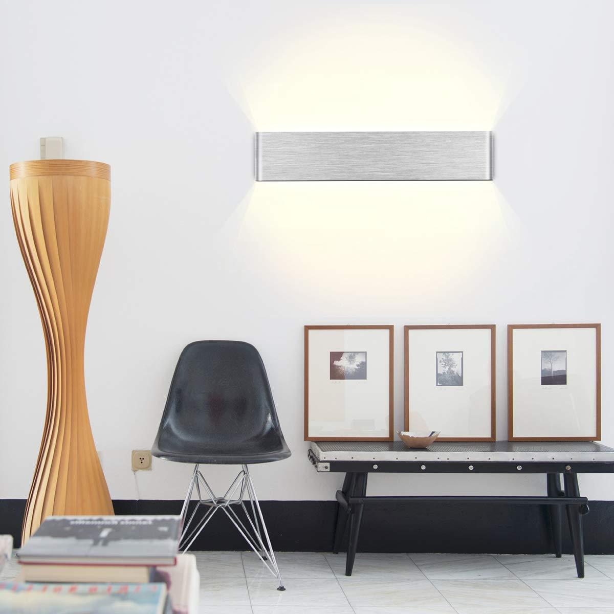 Led Murale Yafido Interieur 14w Blanc Applique Lampe Chaud HE9D2I