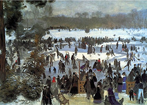 Nouvelles Images Skating Runners In the Bois de Bologne, 1868 Boxed Holiday Card Set (XDB 540)