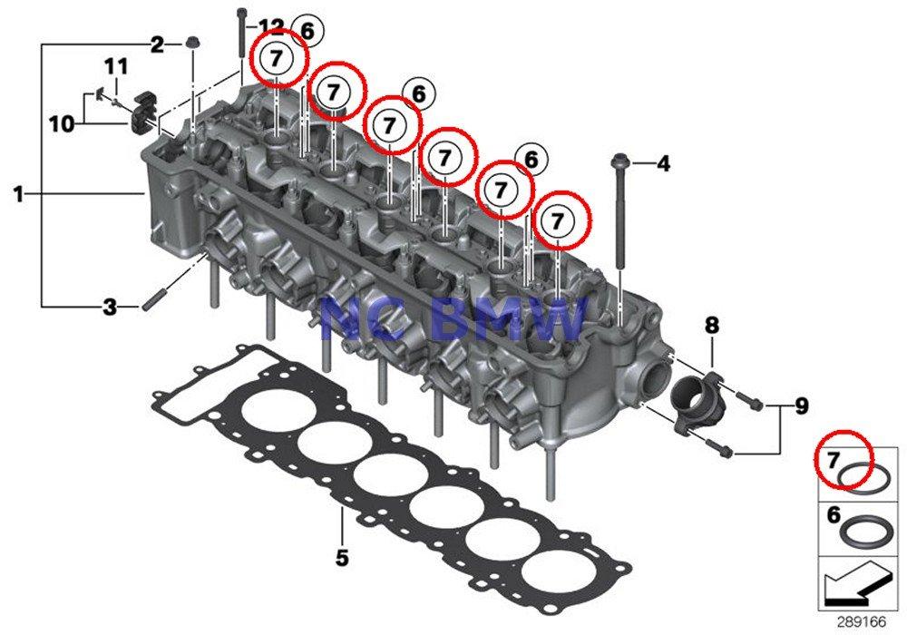 6 X BMW Genuine Motorcycle Cylinder Head / Cylinder Head O-Ring 24X4 A15 A40 K1200S K1300S K1200R K1200R Sport K1300R K1200GT K1300GT K1600GT K1600GTL K1600GTL Excl by BMW