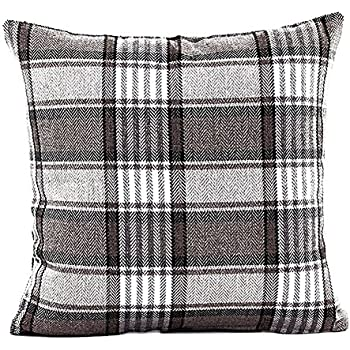 Famibay Square Tartan Cotton Linen Throw Pillow Case Cushion Cover 18 x 18 - Pillow cover Decorative (Color 3)