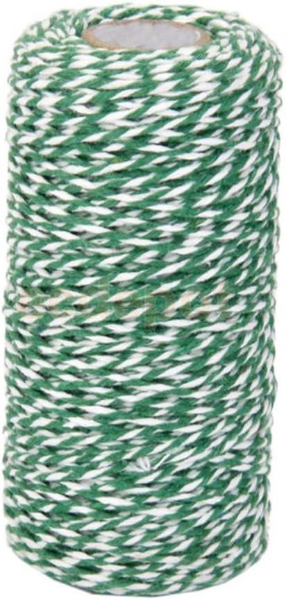 Cordon de corde de coton Ficelle de 100/metres Bouteille en verre Bo/îte cadeau Decor Craft Green