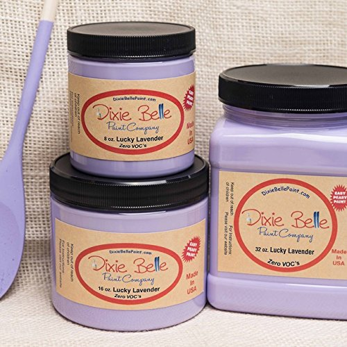 - Dixie Belle Paint Company Chalk Finish Furniture Paint (Lucky Lavender) (16oz)